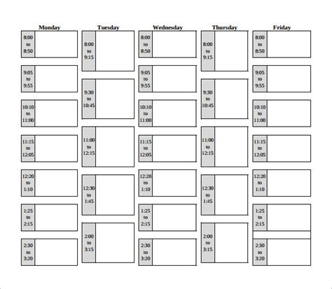 class schedule template class schedule template mobawallpaper
