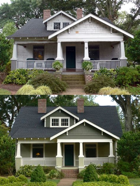 change house exterior look at the dramatic change with new exterior paint a change of space