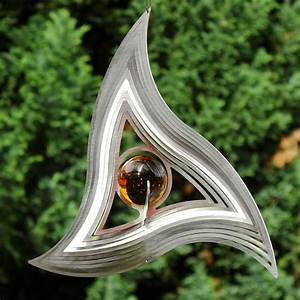 Gartedeko triangle mobile windspiel aus edelstahl for Französischer balkon mit windspiele aus edelstahl für den garten