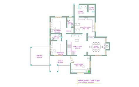 latest kerala house plan   sqft