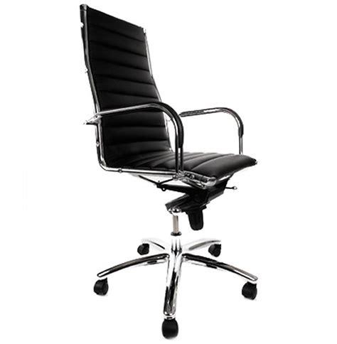 fauteuil de bureau design milan en simili cuir noir