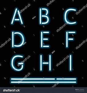 vector neon tube alphabet letters part 1 130508429 With neon tube letters