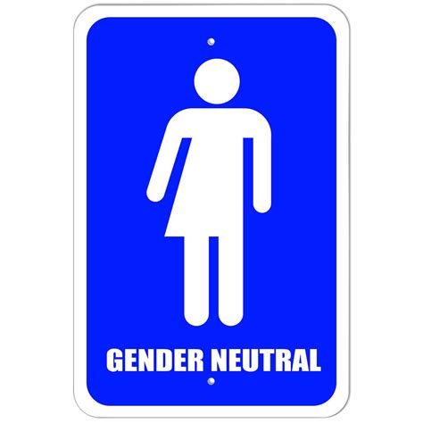 Gender Neutral Bathroom Signs by Plastic Sign Gender Neutral Bathroom All Transgender