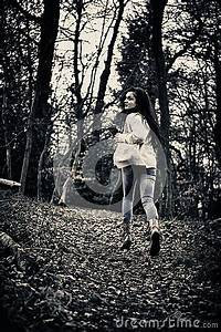 Scared Girl Running Royalty Free Stock Photography - Image ...