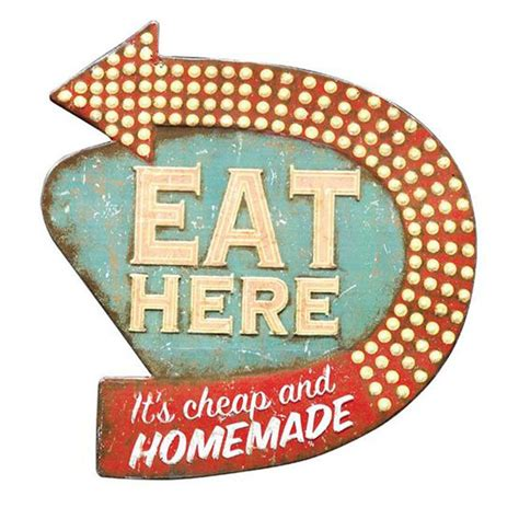 Buy wall decor online at low prices. Eat Here Retro Wall Decor - Iron Accents