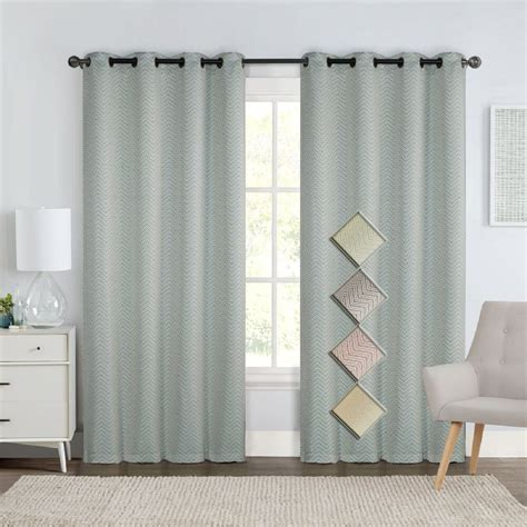 insulated drapery panels murry jacquard thermal insulated blackout curtain 76 x 84