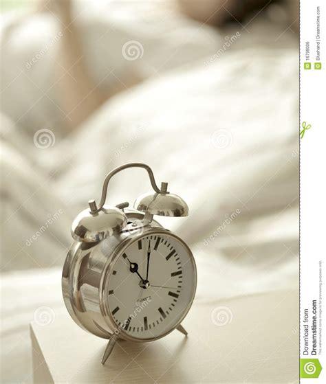 bedroom alarm clock alarm clock in bedroom stock photo image of easy stay 10273