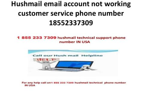 account recovery phone number hushmail email account not working 18552337309 customer