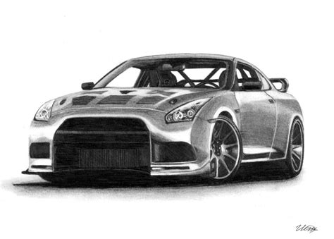 Nissan Gt-r Isp Drawing Supercar By Ivanovsemyonrussia On