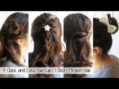 4 quick easy hairstyles for short medium long hair l