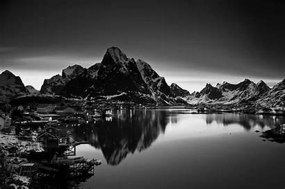 Mountain Landscape Norway Monochrome Nature Dark Desktop