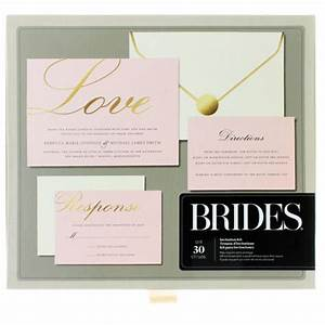 this pretty pink and gold foil invitation kit is perfect With michaels gold wedding invitations
