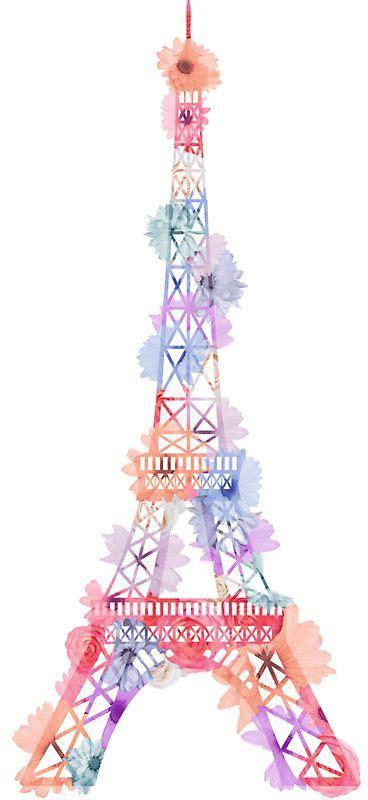 flower eiffel tower paris sticker paris wallpaper