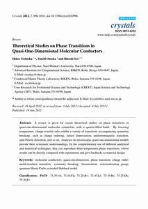 Pdf  Theoretical Studies On Phase Transitions In Quasi