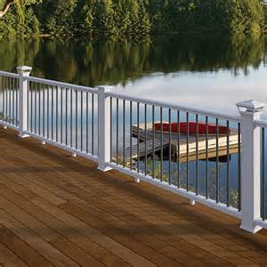 deckorators cxt colonial railing in white with deckorators