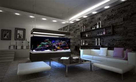 ideas integrate aquarium designs   wall