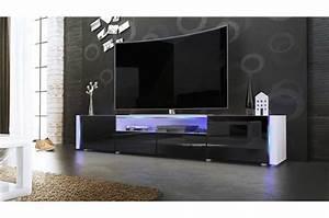 Meuble Tv Bas Et Long : meuble tv bas long blanc laqu novomeuble ~ Teatrodelosmanantiales.com Idées de Décoration