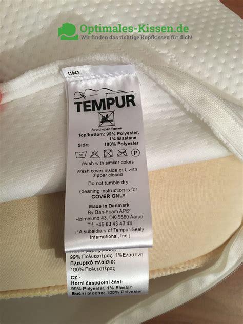 Tempur Ombracio Waschen Optimales Kissen De Das Beste Kopfkissen F 252 R Dich