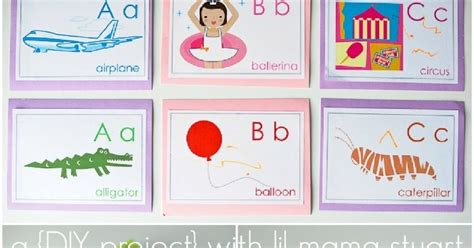 A {day} With Lil Mama Stuart Diy Alphabet Flash Cards