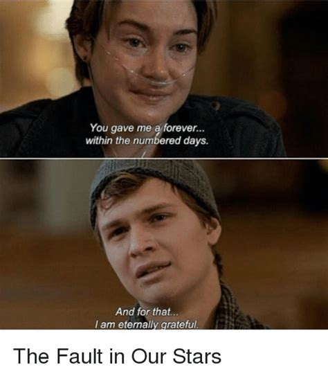 Fault In Our Stars Meme - 25 best memes about eternally grateful eternally grateful memes