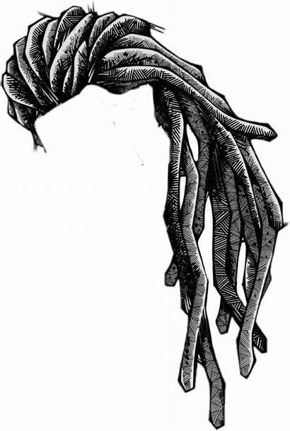 Dreadlocks Drawing Rasta Perruque Transparent Dessin Wool