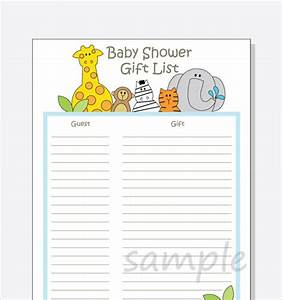 baby shower gift list template 8 free word excel pdf With baby shower wish list template