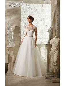mori lee 5315 venice lace top tulle skirt ball style With lace top tulle skirt wedding dress