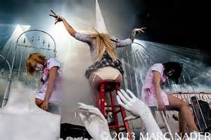 In This Moment performing on The Carnival of Madness Tour ...