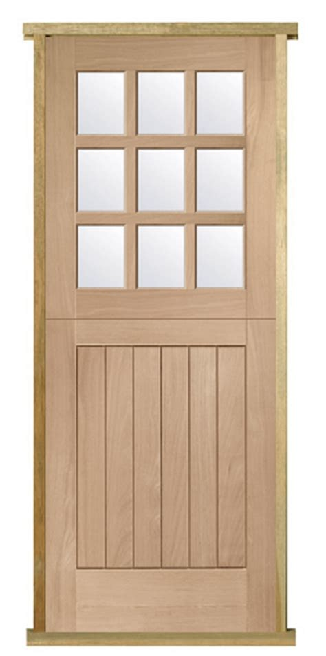 pre hung oak stable door  light internal  external