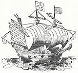 Ship Drawing Clipper Sailing Historical Hind Copyright Caravel Drawings Golden Boats Domain Getdrawings Paintingvalley sketch template