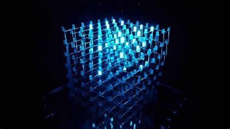 led cube light show 7x7x7 youtube