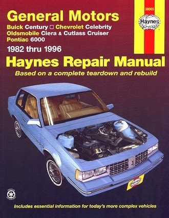 small engine service manuals 1991 pontiac 6000 spare parts catalogs buick century chevy celebrity olds ciera repair manual 1982 1996