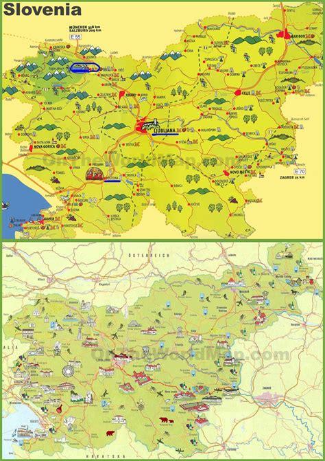 slovenia tourist map