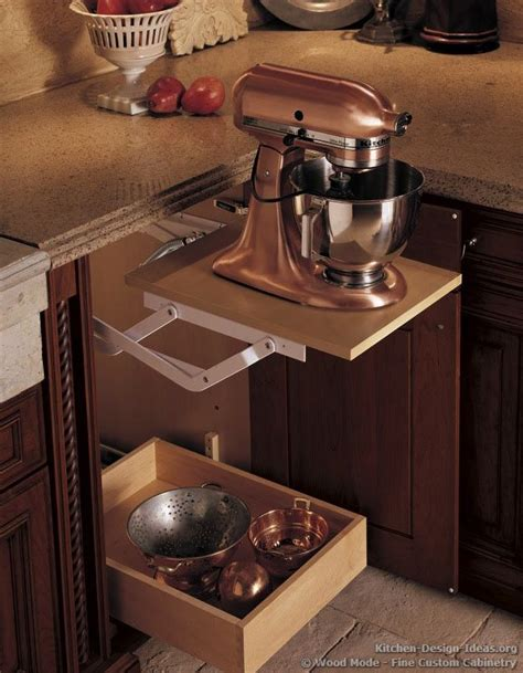 kitchen cabinet mixer lift save counter space by storing your stand mixer in a base