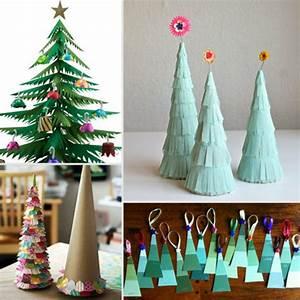 Weihnachtsbäume Aus Papier Basteln : 100 tolle weihnachtsbastelideen ~ Orissabook.com Haus und Dekorationen