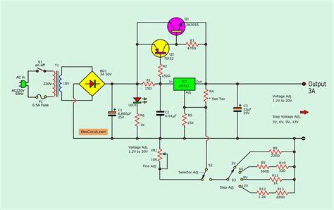Adjustable Voltage Regulator Circuit With Pcb