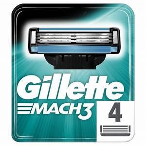 Morrisons  Gillette Mach 3 Manual Razor Blades 4 Per Pack