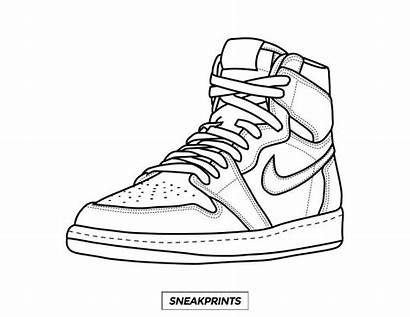 Coloring Pages Shoes Sneaker Drawing Own Shoe