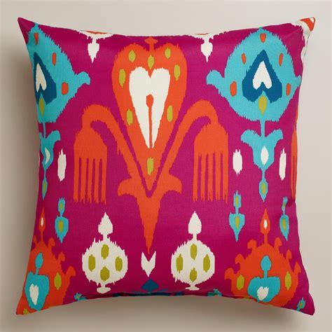 outdoor throw pillows fuchsia aberdeen outdoor throw pillow world market