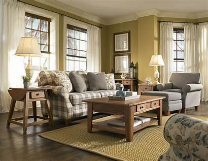 Country Living Rooms Sofa Table Brown Wooden