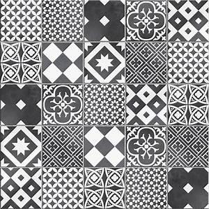 Tissu Carreau De Ciment : mosa que sol et mur gatsby d cor noir et blanc leroy merlin ~ Teatrodelosmanantiales.com Idées de Décoration