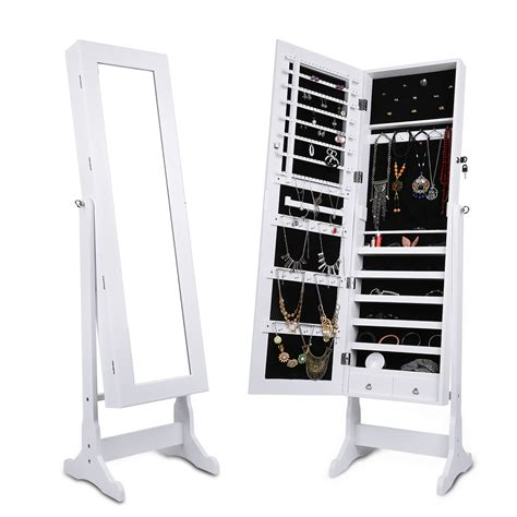 armoire miroir chambre langria lockable mirrored jewelry cabinet armoire mirror