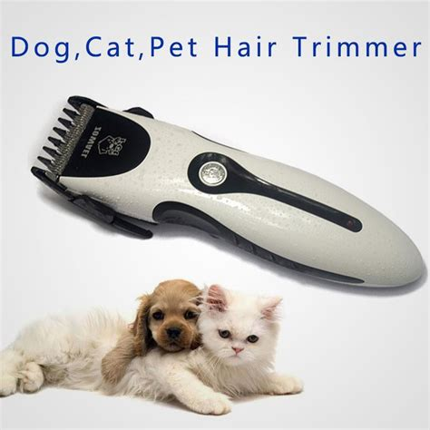 rechargeable cat hair trimmer electrical pet hair