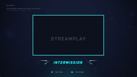 Twitch Be Right Back Screen Template How To by Twitch Overlays Stream Overlays Fit For Obs Twitch