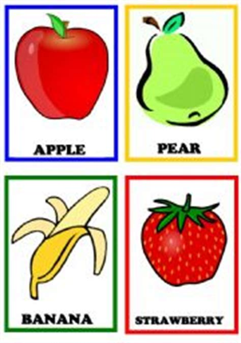 Fruits Flashcards Set 1  Esl Worksheet By Letslearn50