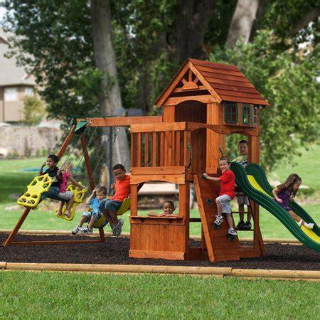 Walmart Backyard Playsets by Adventure Play Sets Atlantis Cedar Wooden Swing Set