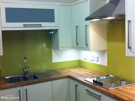 lime green splashback kitchen glass upstands ideas 7110