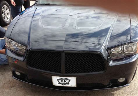 dodge charger chrome bentley black mesh grille