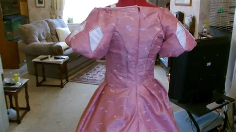 disney ariel pink dress skirt long sleeve tutorial video