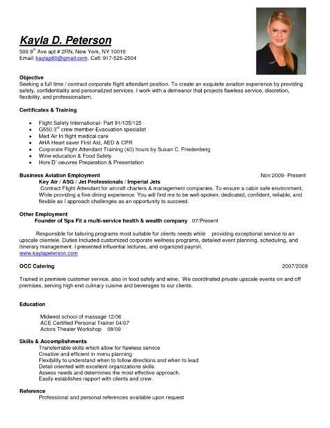 Flight Attendant Resume Description awesome flight attendant description resume resume format web